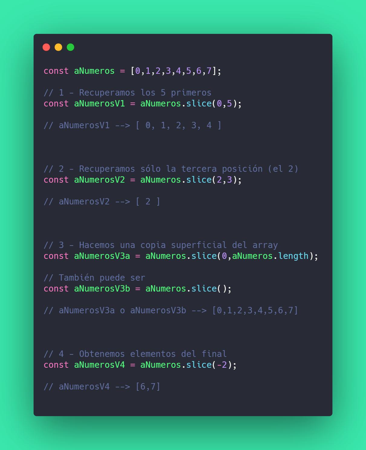 javascript array slice